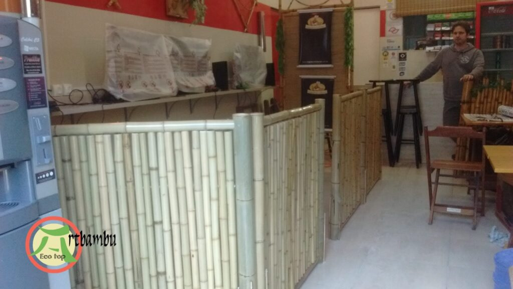 decorar a loja com bambu