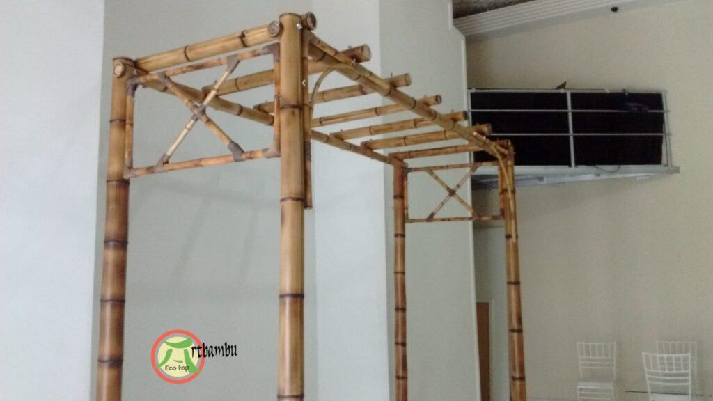decorar parede com bambu