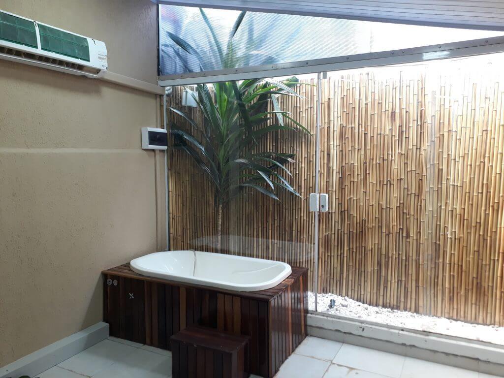 painel de bambu encerado