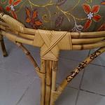 Cadeira redonda de bambu