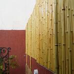 como fazer um painel de bambu