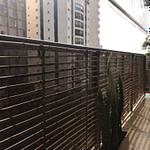 Cerca de bambu decorativa