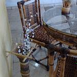 móveis de bambu tratado
