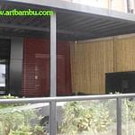 Cobrir parede com bambu