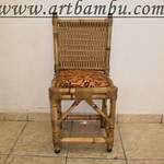 cadeira de bambu tramada