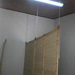 Biombos de bambu coberto com palha