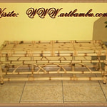 banco de bambu,forração de bambu