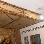 forro de bambu com palha