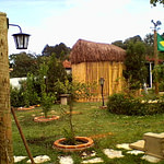 Galinheiro de bambu