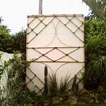 Mosaico de bambu cana da índia