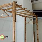 pérgola de bambu desmontável