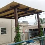 Cobertura com bambu na decoração
