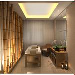 Decoração com bambu mosso