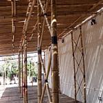 Pérgola de bambu