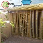 Cerca de bambu vazada