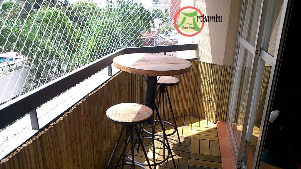 cobertura de bambu