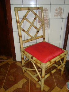 Cadeira de bambu cana da índia
