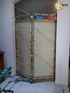 divisórias de bambu cana da índia