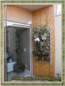 Read more about the article Divisória de bambu coberta com palha de junco