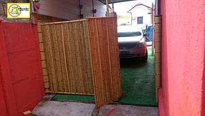biombo de bambu duplo