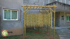 Decorações com bambu cana da índia
