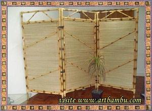 biombos e divisórias de bambu