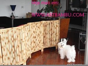 cerca de bambu para contenção de animais
