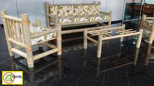 decorações e arranjos com bambu