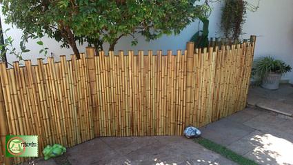 fazer sua cerca de bambu para jardim