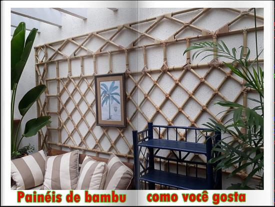 Painéis de bambu decorativos