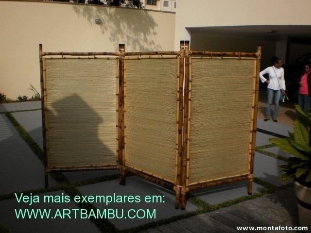 lindo biombo de palha de junco com bambu