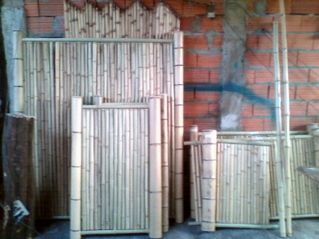 painéis de bambu